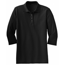 Womens 3/4 Sleeve Polo