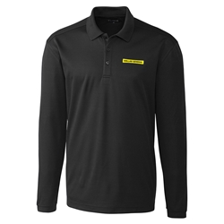 Mens Long Sleeve Spin Polo