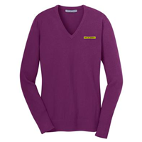Women's V-neck Blended Sweater