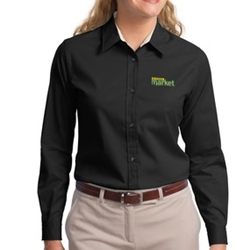 Womens Long Sleeve Easy Care Twill